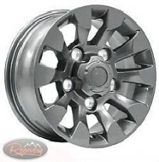 "LAND ROVER DEFENDER -  SAWTOOTH STYLE ALLOY WHEEL SILVER 16""X 7""(1)- LR025862MNH"